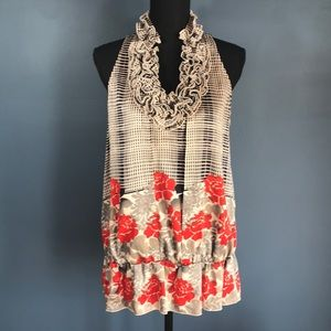 The Limited Ruffle Tank with Elastic Waist Sz L